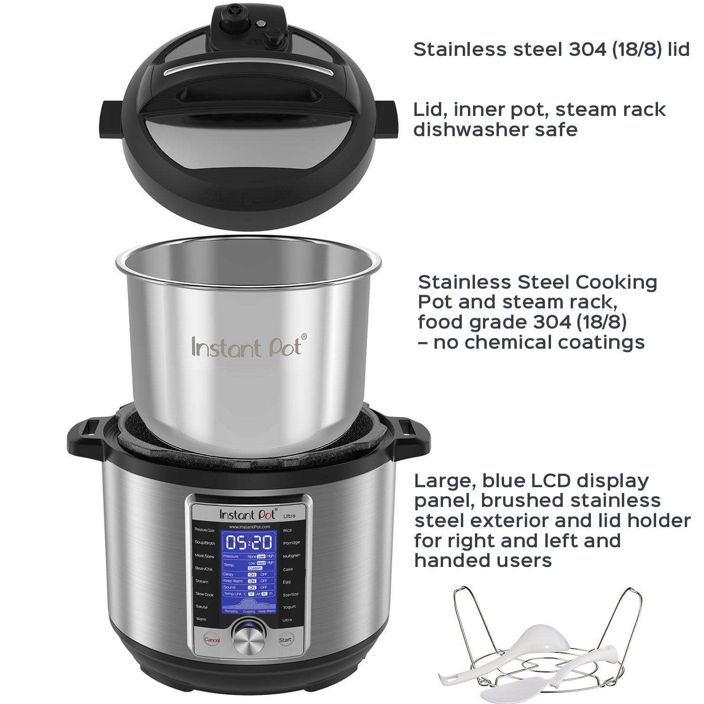 Instant Pot Ultra 6 Qt 10-in-1 Multi- Use Programmable Pressure Cooker, Slow Cooker, Rice Cooker, Yogurt Maker, Cake Maker, Egg Cooker, Sauté, Steamer, Warmer, and Sterilizer by Instant Pot (Image #4)