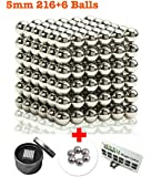 Magnetic Balls, Magnetic Sculpture Toys for Education, Stress Relief and Intelligence Development (5mm 222pc) -1 Split Card and Introduction - Fidget Toy for Adults