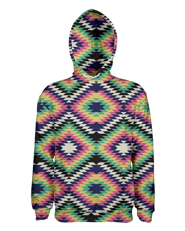 Geometric Tribal Pullover Hoodie