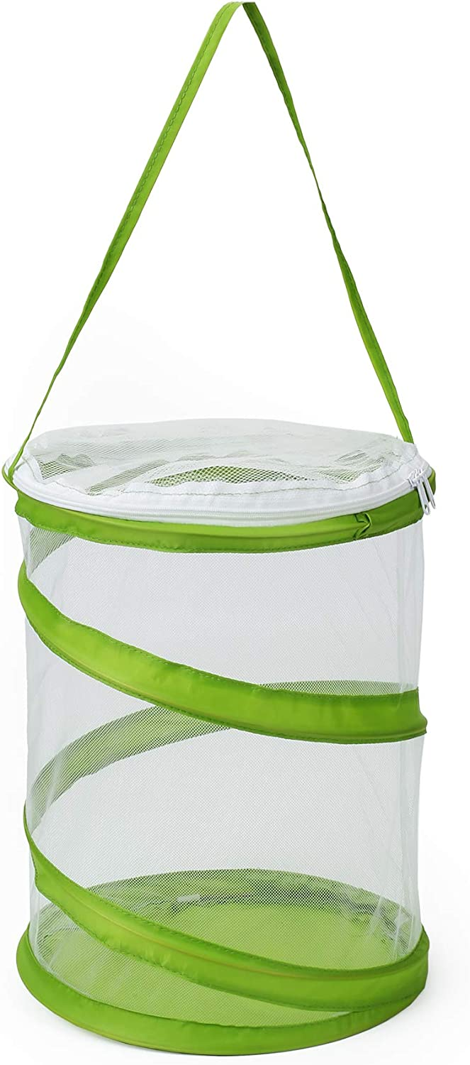 RESTCLOUD Pop-up Insect and Butterfly Habitat Cage Terrarium Upgraded Version, See Through Easier 9