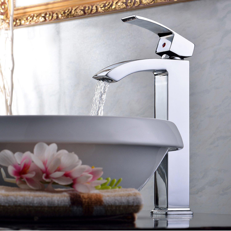 Lightinthebox Deck Mount Single Handle Centerset Countertop Chrome Bathroom Vessel Sink Lavatory Bath Shower Bathtub Mixer Taps Plumbing Fixtures Single Hole Widespread Waterfall Tall Spout Faucet