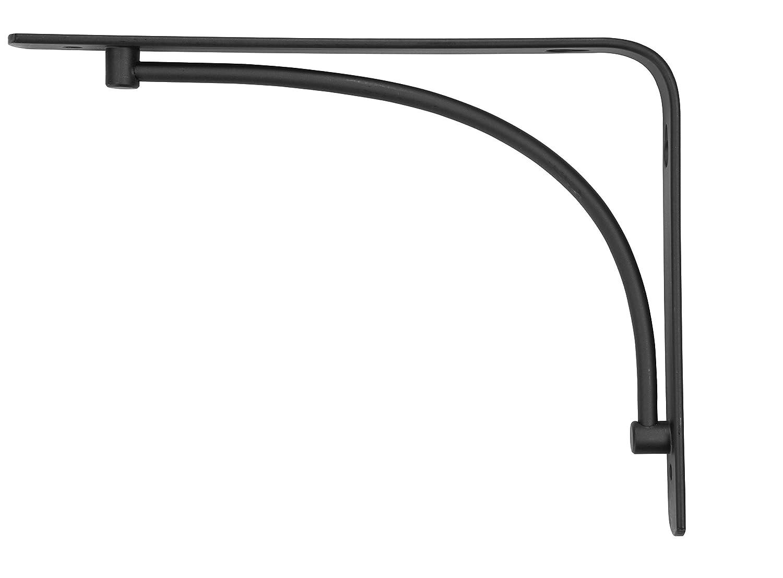 amazoncom rubbermaid decorative shelf bracket 6 by 8inch arch black home u0026 kitchen