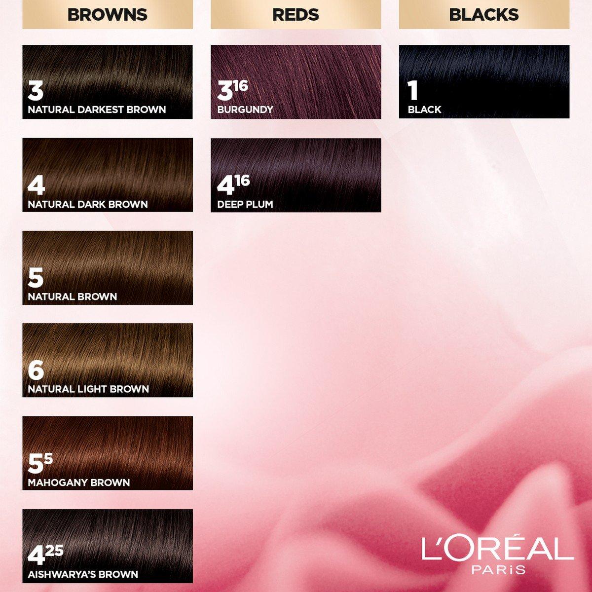 Buy L\'Oreal Paris Excellence Creme Hair Color, 4 Natural Dark Brown ...