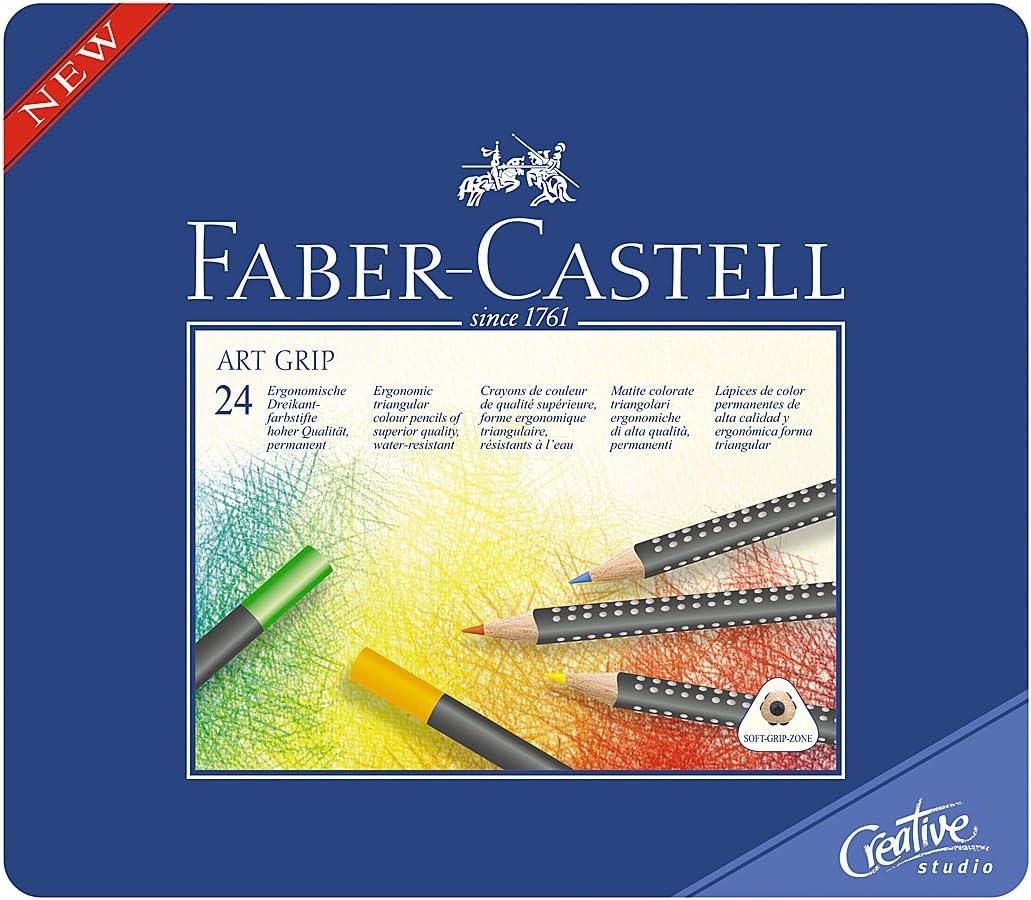 Faber-Castell Art Grip - Caja de 24 lápices de colores: Amazon.es ...