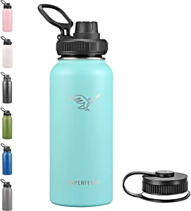 Stainless Steel Water Bottle With Straw Lid Double Walled Vacuum Insulated Metal Thermos Flask Leakproof 32OZ Tiffany Blue1