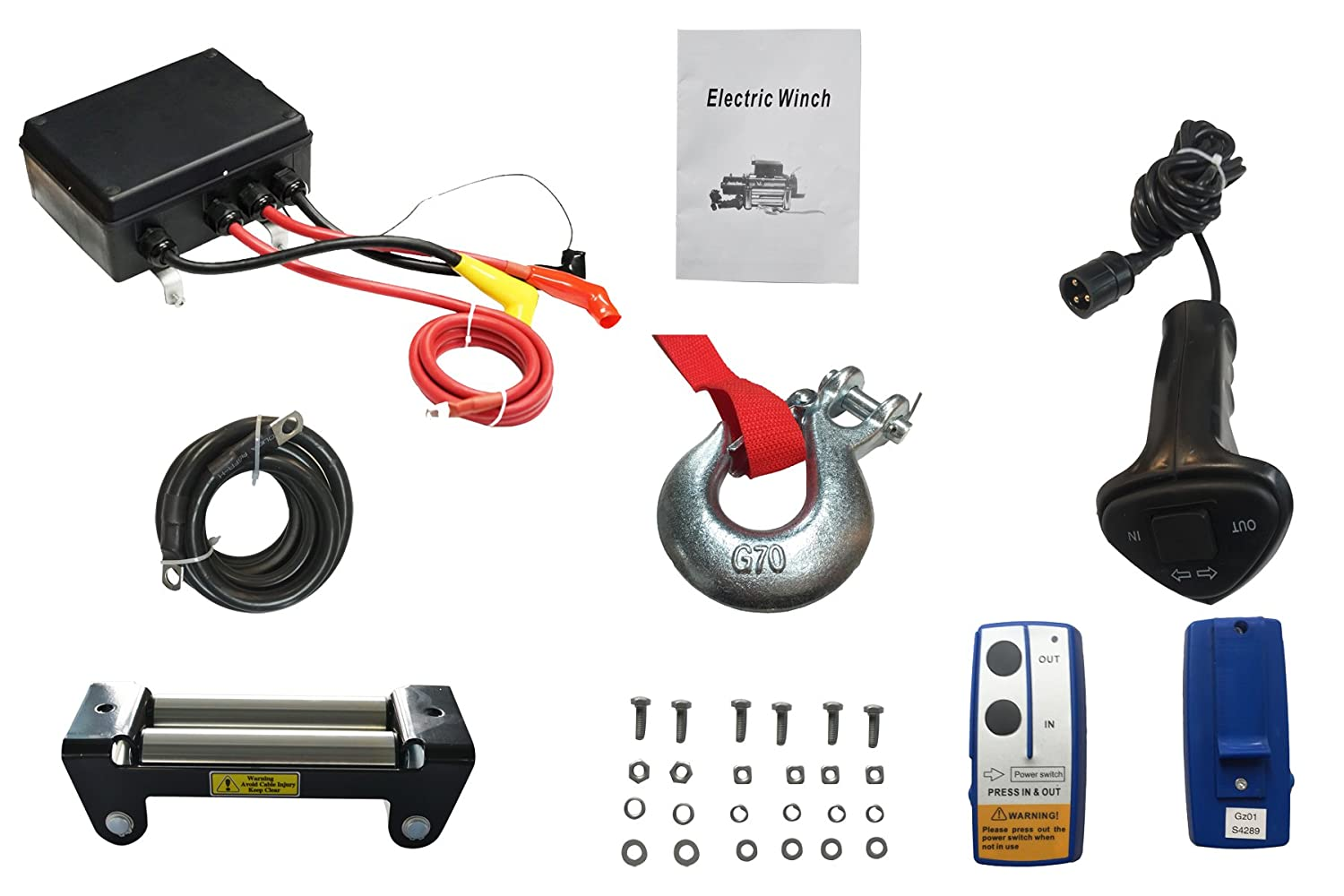 X Bull 12v Steel Cable Electric Winch 12000 Lb Load 12 Volt Remote Control Wiring Diagram Capacity Automotive