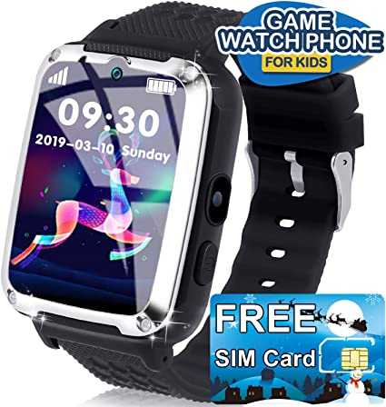 AMENON Smart Watch for Kids [Free SIM Card] - Boys Girls Smartwatch Phone with Call SOS Games Music Player, Child Wrist Watch 3-12 Years Old Holiday ...