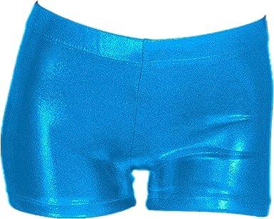 7-8 Years,Blue MOLLDAN Girls/' Gymnastic Shorts Ballet Dance Sparkle Short Active Tumbling Bottoms