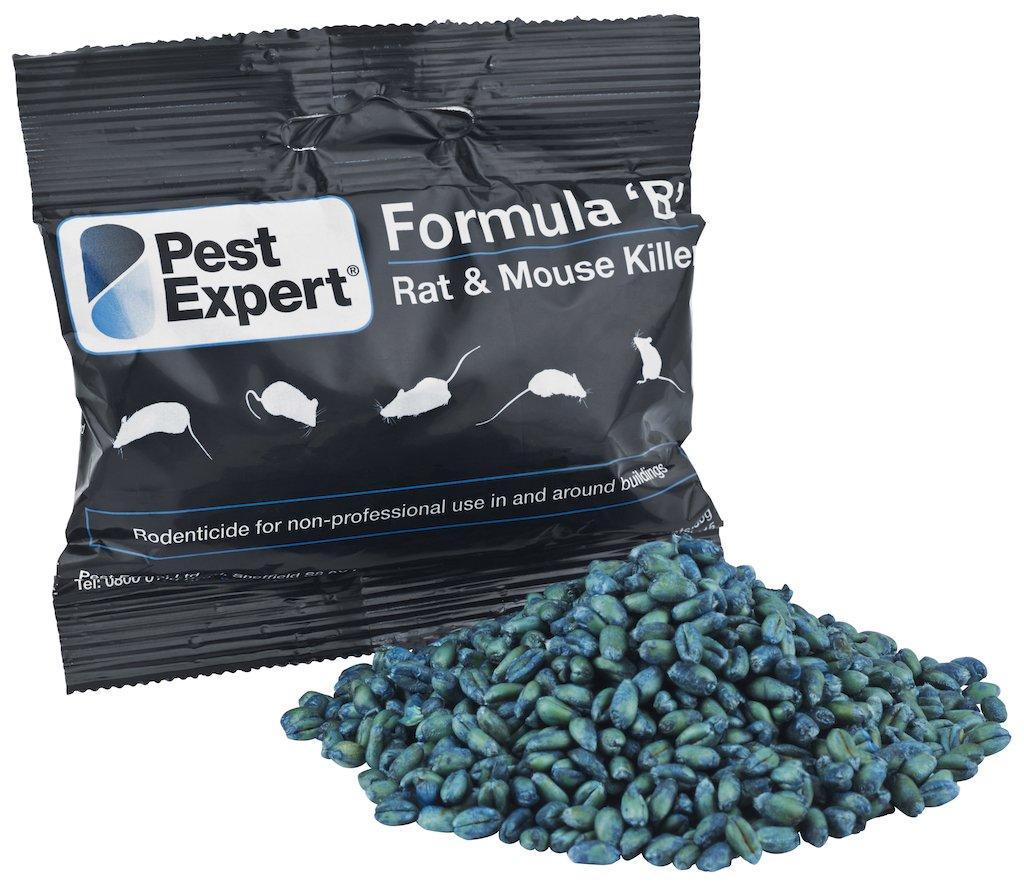 Pest Expert Rat Killer Poison 1.5kg - Formula 'B+' from (15 x 100g)
