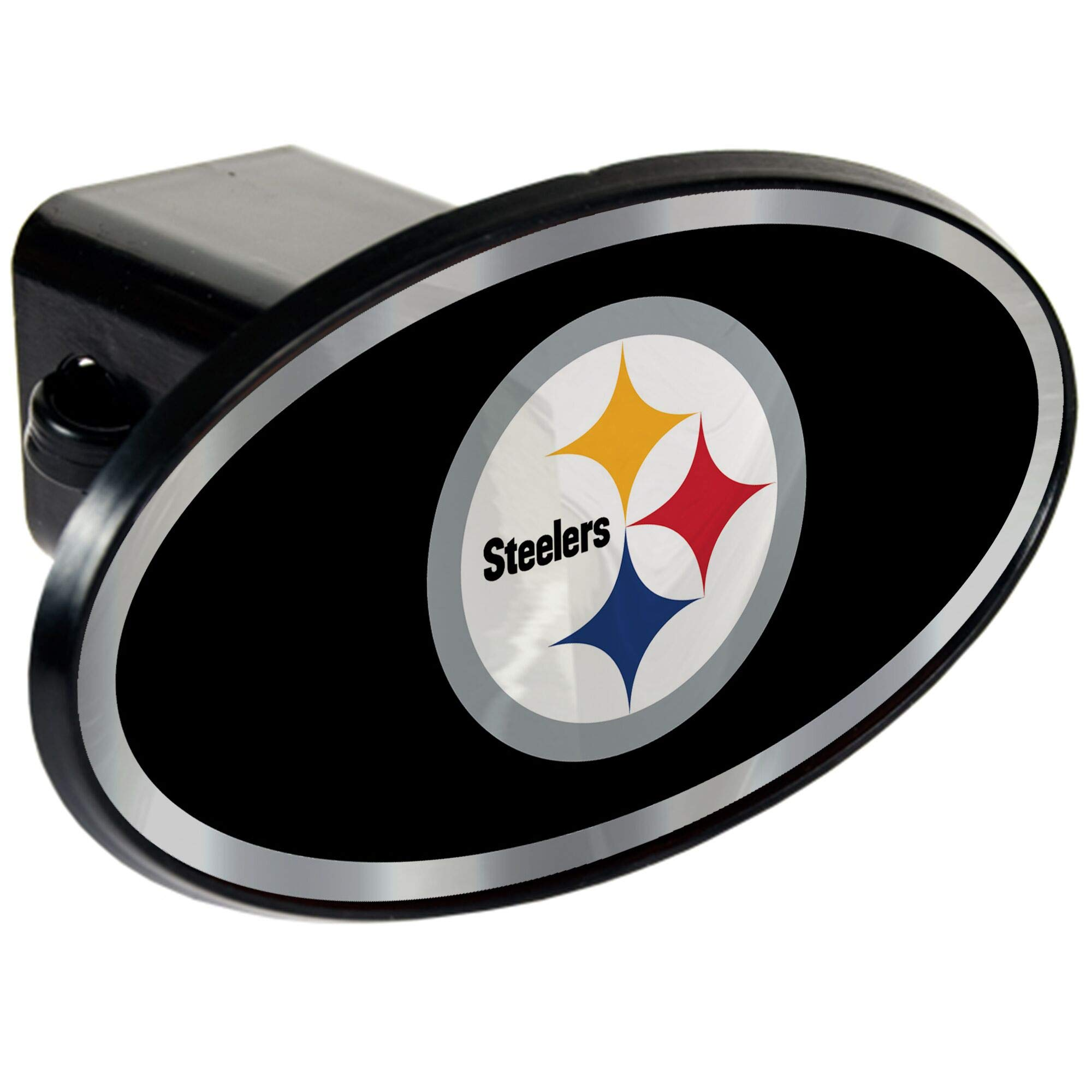 NFL Pittsburgh Steelers Tow Hitch Cover Plug w/pin for Car-Truck-SUV 2'' Receiver by Quality Hitch Covers
