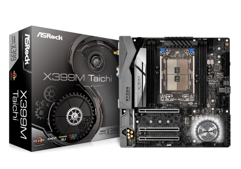 ASRock Socket TR4/ AMD X399/ DDR4 Wi-Fi/A&2GbE/ MicroATX ...