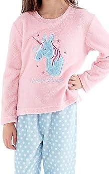 Childrens Pyjamas Faye Unicorn Dreams Soft Fleece Set Cute Kids Girls