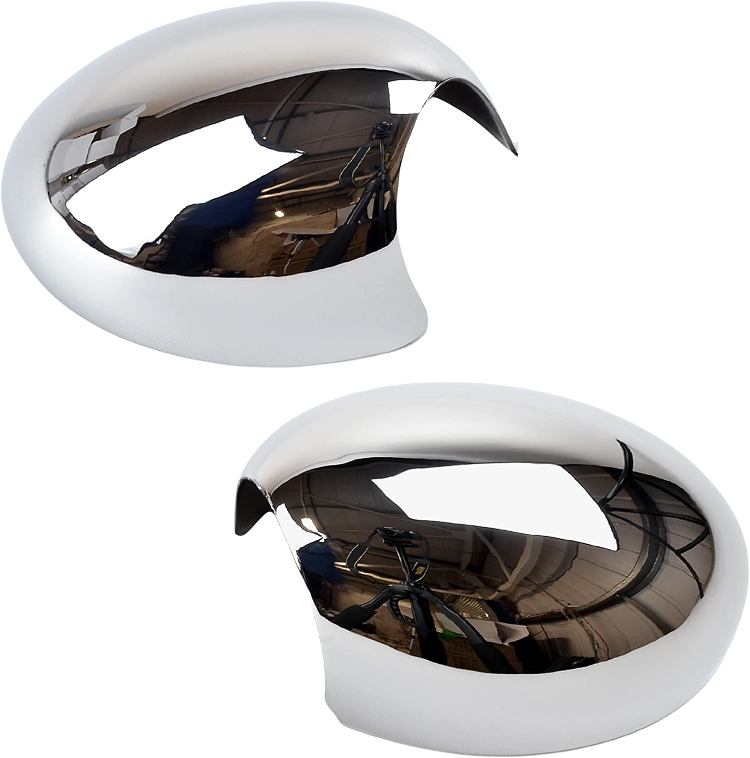 CHROME CUP WING MIRROR GLASS COVERS