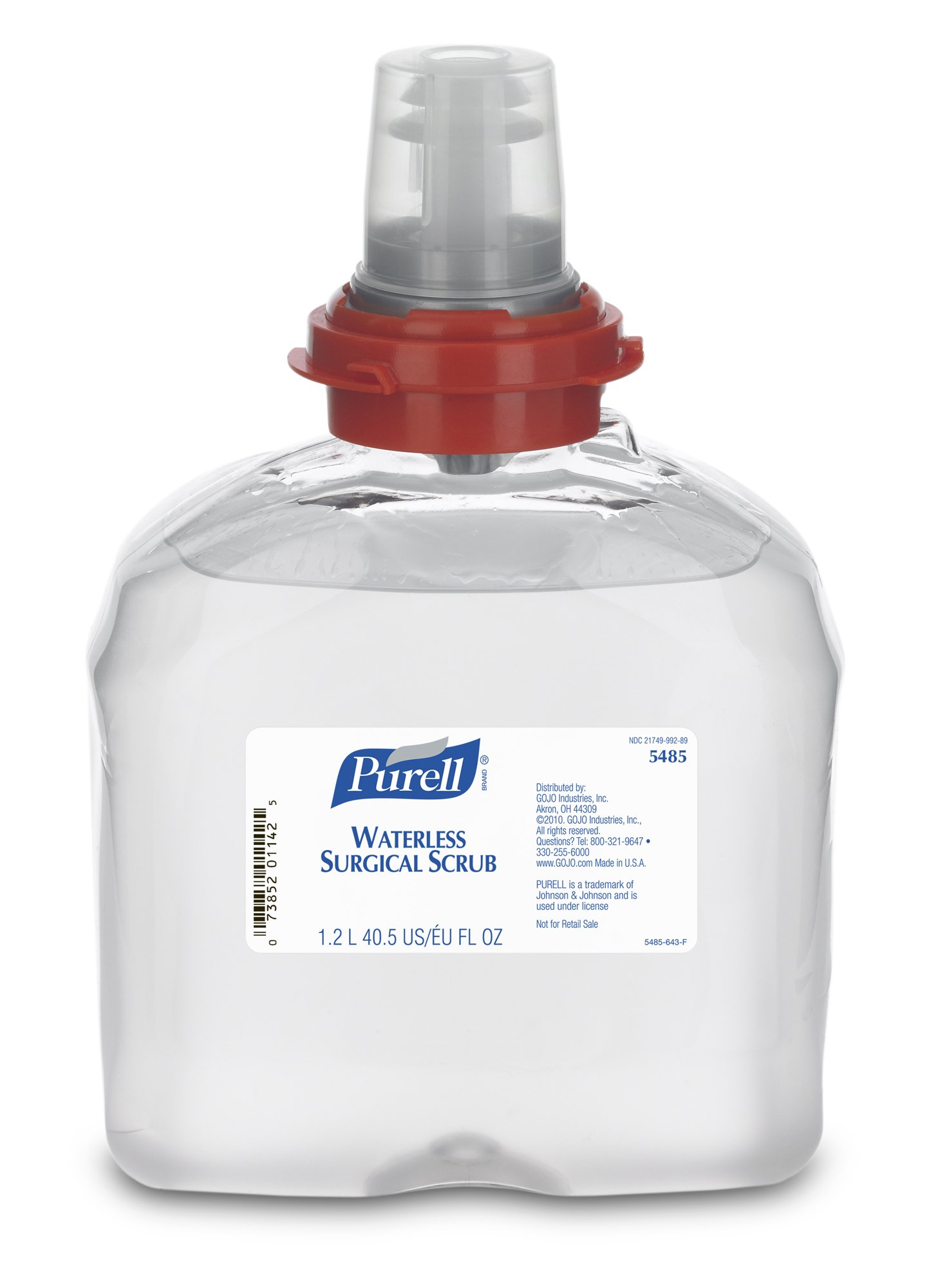 Purell TFX Refill, 5485-04 - Waterless Surgical Scrub (1200 mL) - 4 Pack