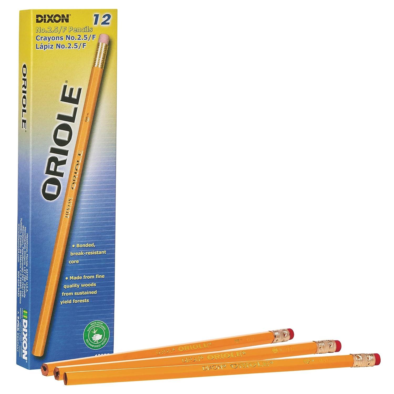 Dixon Oriole Number 2 5 Medium Pencils, Box of 12, Yellow