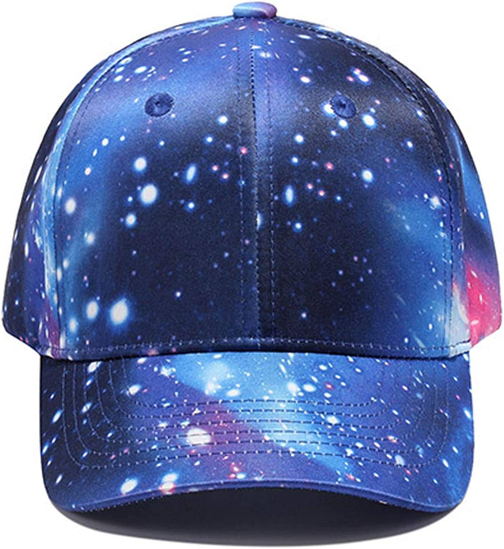 CHENTAI 3D Printing Baseball Cap Hip Hop Street Style Cap Outer Space Galaxy Caps Street Dancer Dance Cap