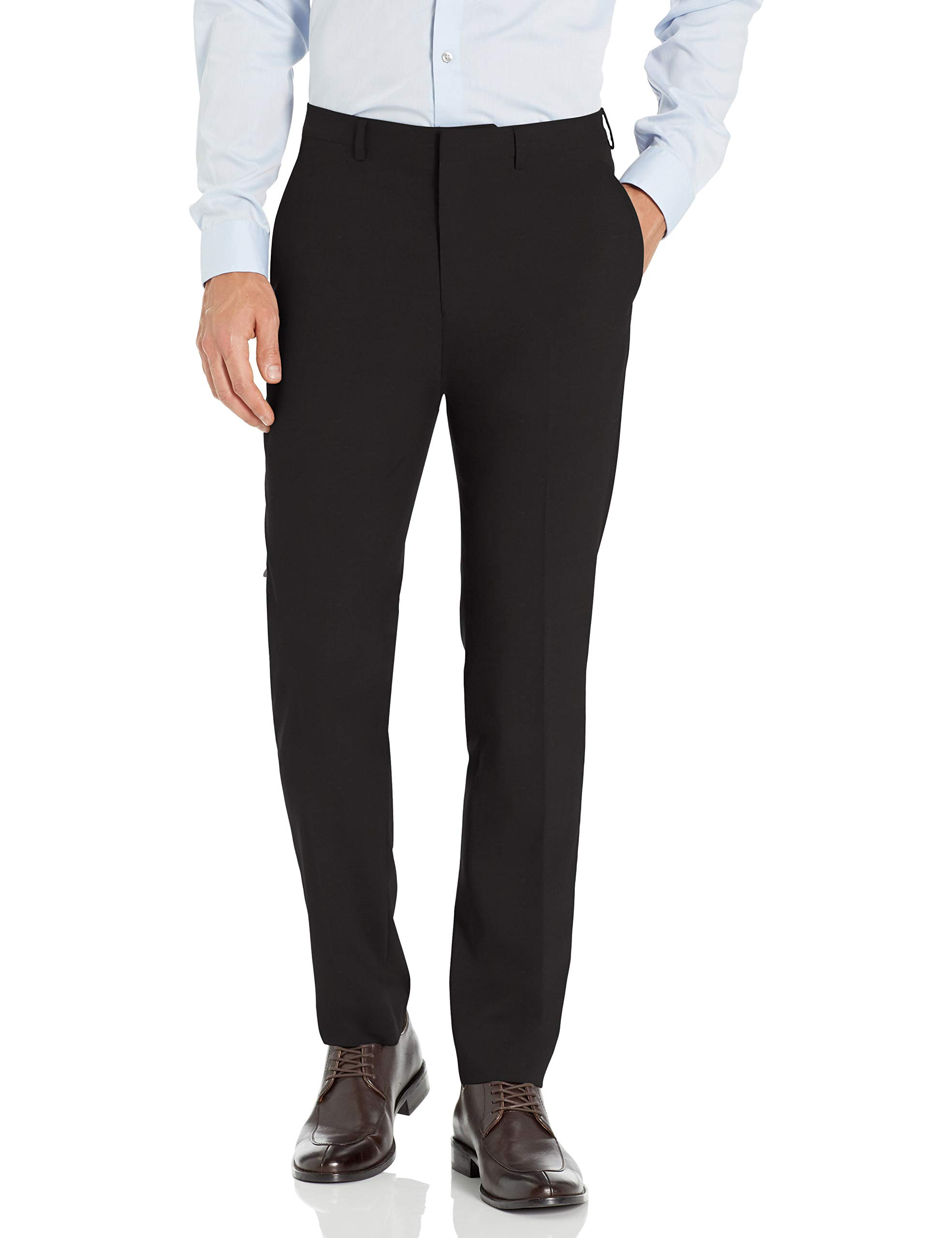 Cole Haan Men's Slim fit Stretch Suit Separates (Coat and Pant), Black, 36Wx30L by Cole Haan