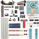 Sunfounder Project Super Starter Kit for Raspberry Pi 3, 2 & Model B+ w/ 40-Pin GPIO Extension Board, GPIO Cable, H-Bridge L293D, ADXL335, DC Motor, 7-Segment, Dot Matrix Display