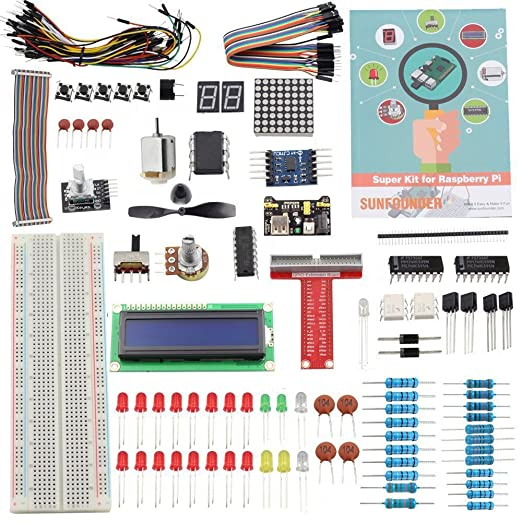 30 opinioni per Sunfounder Project Super Starter Kit for Raspberry Pi 3, 2, Model B+ w/ 40-Pin
