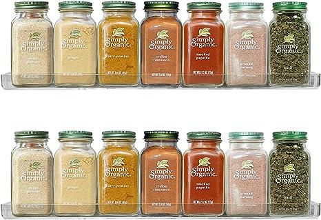 Portable Spice Herb Rack Holder Kitchen Jar Wall Mount Storage Display Shelving