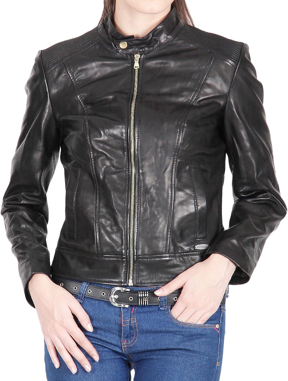 Women Leather Jacket Coat Genuine Lambskin Pure Leather Bomber Biker Jacket LFWN432