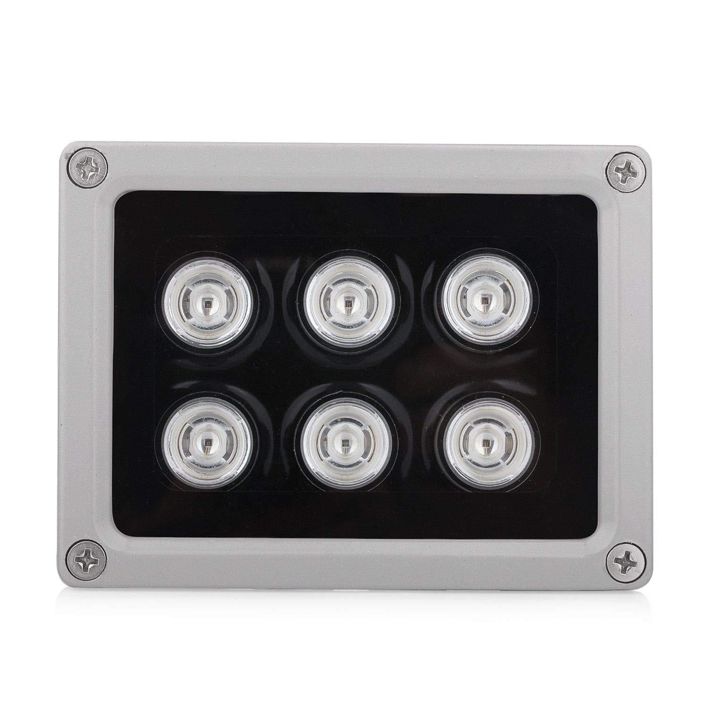 FidgetKute IR Illuminator 850nm 6PCS 12PCS 15PCS LEDs 60° Angle for CCTV Security Camera 6PCS LEDs