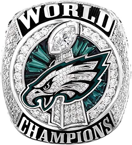 Amazon Com Zoga Philadelphia Eagles Championship Ring Ver 3 Sports Outdoors