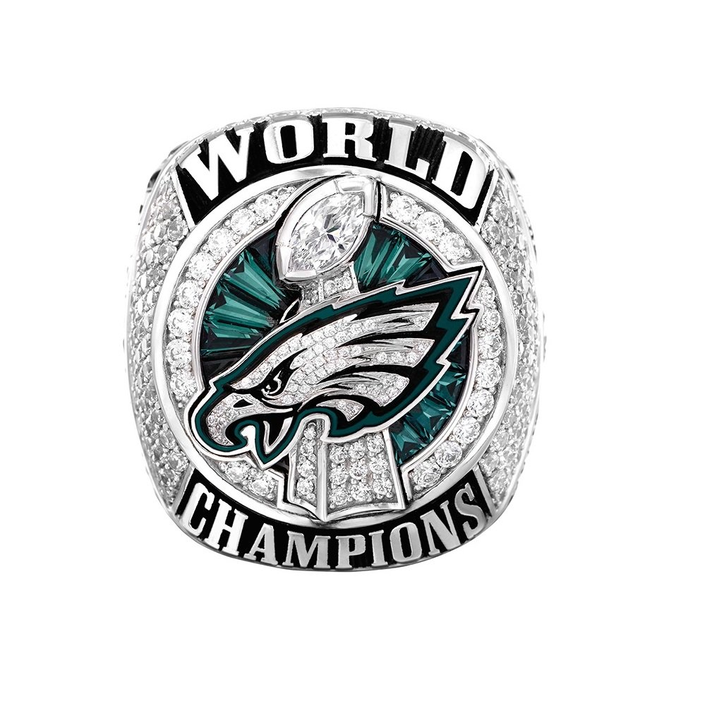 Zoga Philadelphia Eagles Ring, Super Bowl LII World Foles Wentz Championship Replica Ring
