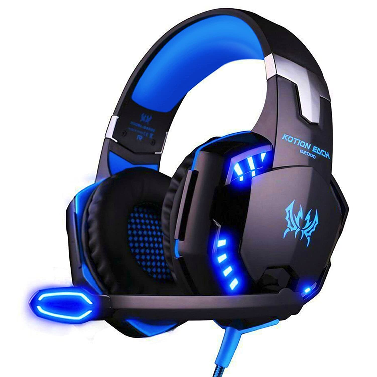 casque gaming micro arkartech g2000 casque filaire pc microphone headset ebay. Black Bedroom Furniture Sets. Home Design Ideas