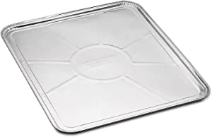 """5-Pack Disposable Foil Oven Liners by DCS Deals – Keep Your Oven Clean and Healthy – Perfect Silver Foil Drip Pan Tray for Cooking, Baking, Roasting, and Grilling- 18.5 x15.5"""" inch"""