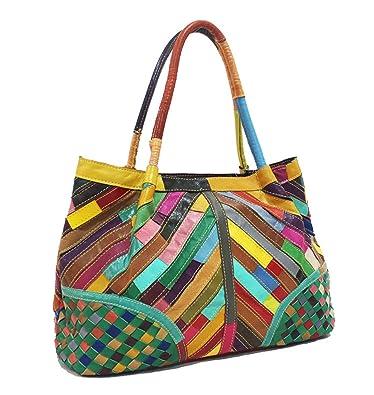neuer Stil Damen Handtaschen, Hobo-Bags, Schultertaschen, Beutel, Beuteltaschen, Trend-Bags, Velours, Veloursleder, Wildleder, Tasche Rot Keshi