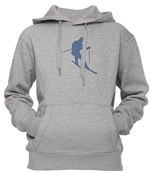 Esquiar Unisexo Hombre Mujer Sudadera Con Capucha Pullover Gris Tamaño S Unisex Mens Womens Hoodie Sweatshirt