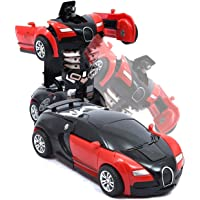 Amitasha 2in1 Converting Transformer Robot Car Toy for Kids (Multi Color)