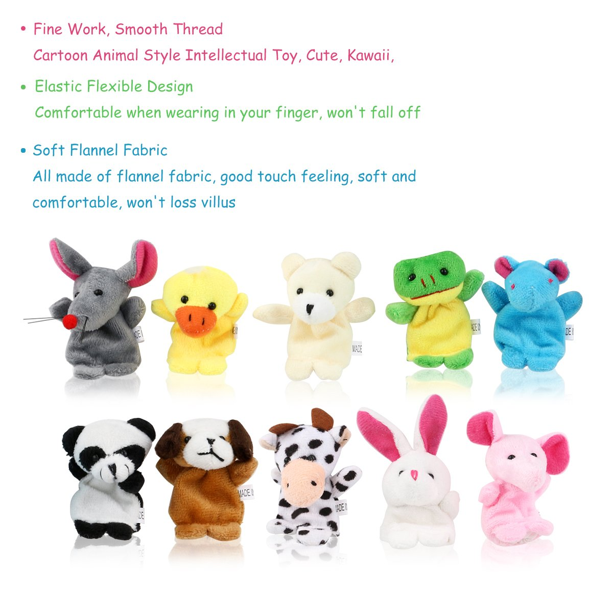 LEORX Animales de la dedos títeres muñecos Soft accesorios juguetes ...