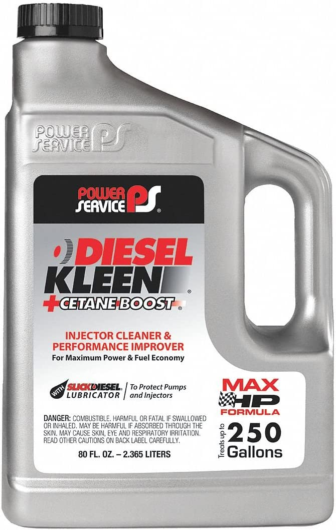Amazon Com Power Service 03080 06 80 Ounce 03080 Cetane Boost Diesel Kleen Fuel Additive 80 Oz Automotive