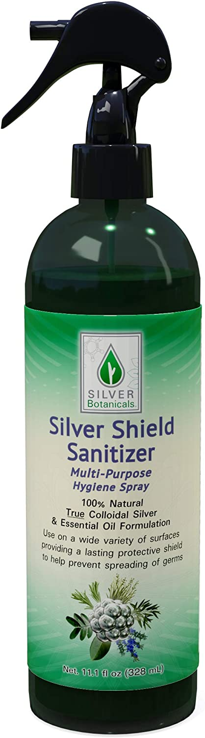 Silver Shield Sanitizer, All Natural Colloidal Silver MicroCleanser, 12 oz.