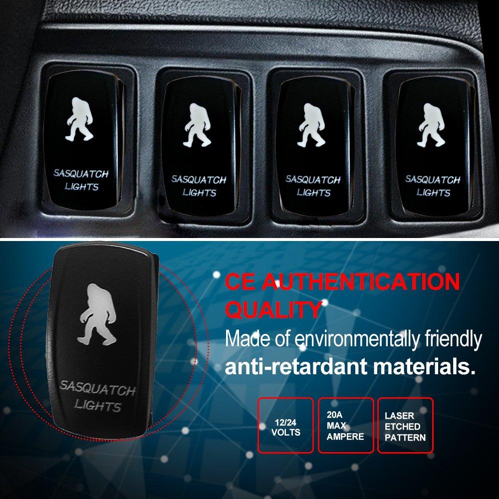 Blue Rocker Switch 5PIN LED Light Bar For UTV Polaris RZR XP 900 ...