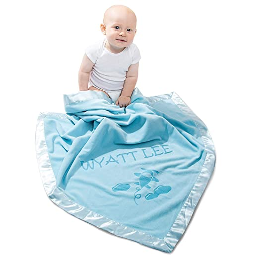 1e19d120b70f7 Personalized Airplane Baby Blanket Gifts - Large Custom Blankets, Boy Girls