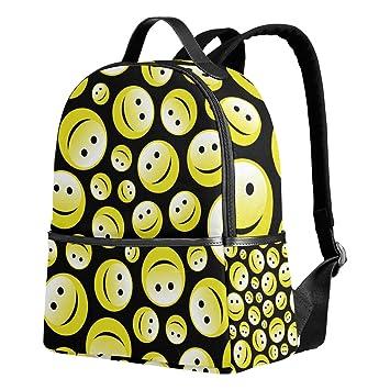 deyya Emoji Smiley niños mochilas escolares para niños niñas bookbags de los niños regalo: Amazon.es: Electrónica