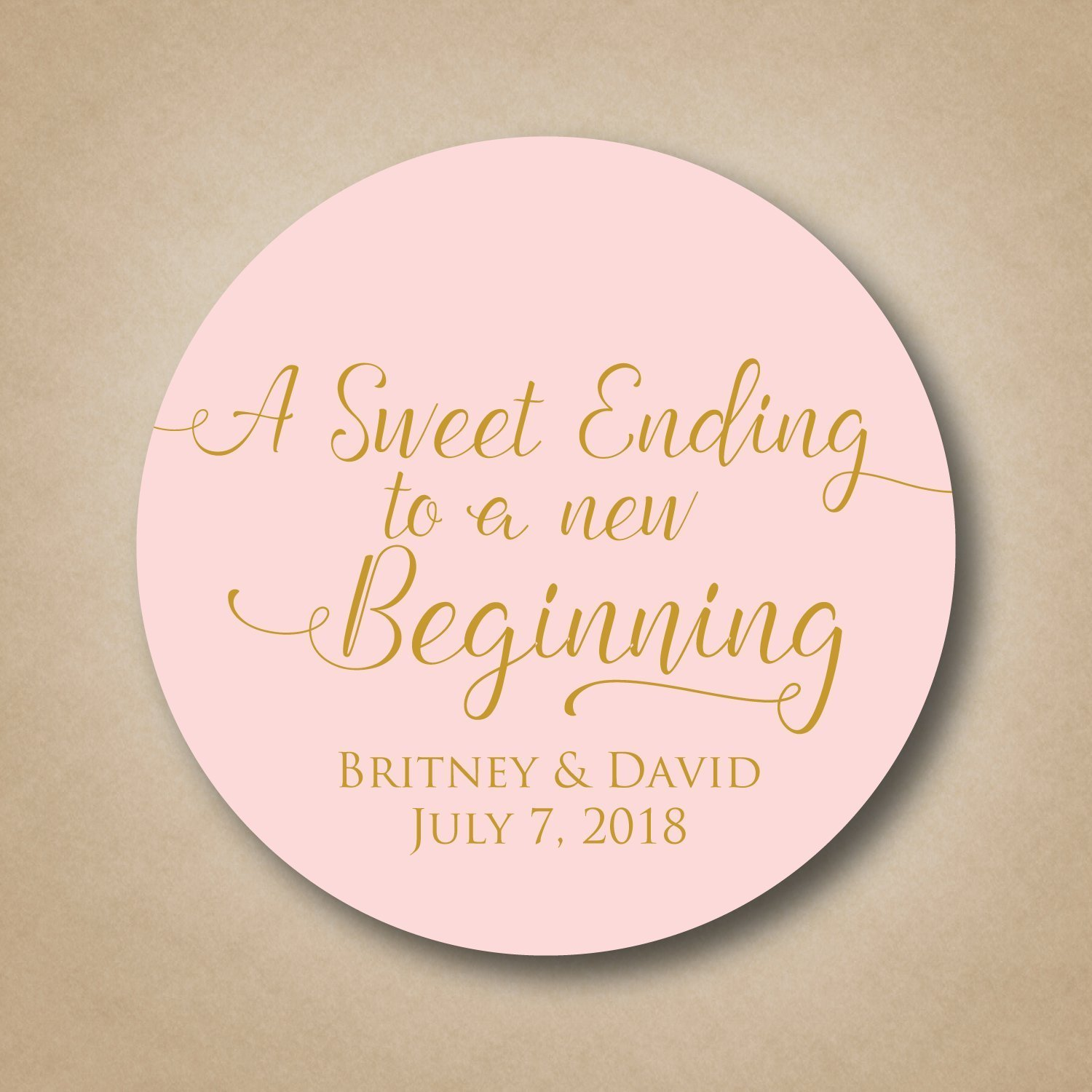 Amazon.com: A Sweet Ending to a new Beginning Wedding Stickers: Handmade