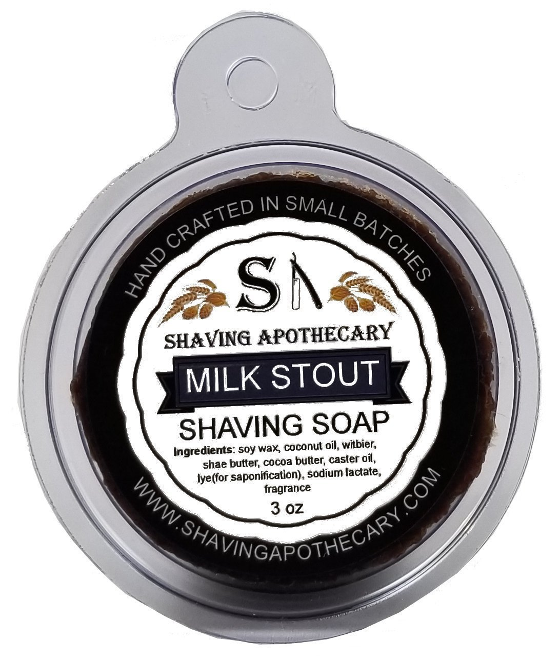 Shaving Apothecary Shaving Soap - Milk Stout with real beer