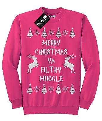 Sudadera unisex con motivos navideños y mensaje «Merry Christmas ya filthy muggle»