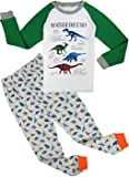 Babyfashion Pigiama da 2 Pezzi di Dinosauro Sia Par Bambino Sia per Ragazzo Sono 100% di Cotone (da 2 Anni Fino a 10 Anni)