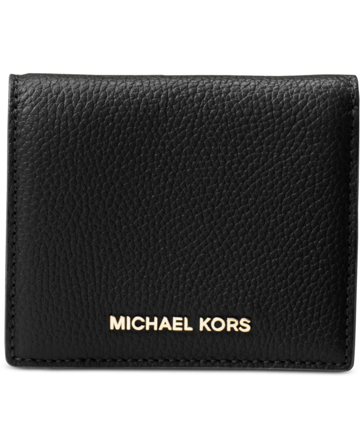 MICHAEL Michael Kors Women's Money Pieces Flap Card Holder, Black, One Size by Michael Kors