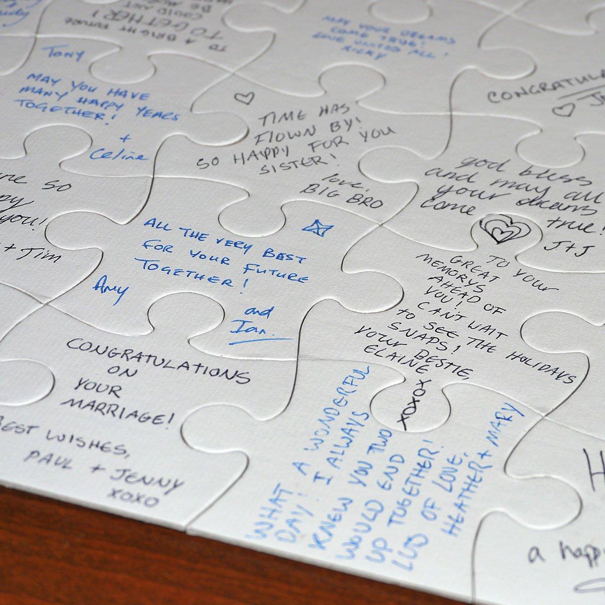 Amazon.com: Jigsaw2order Extra Large Blank Puzzle, Wedding Guest ...