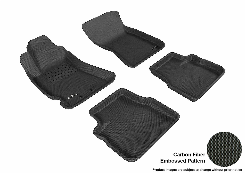 L1SB00311509 3D MAXpider Front Row Custom Fit All-Weather Floor Mat for Select Subaru Forester Models Black Kagu Rubber