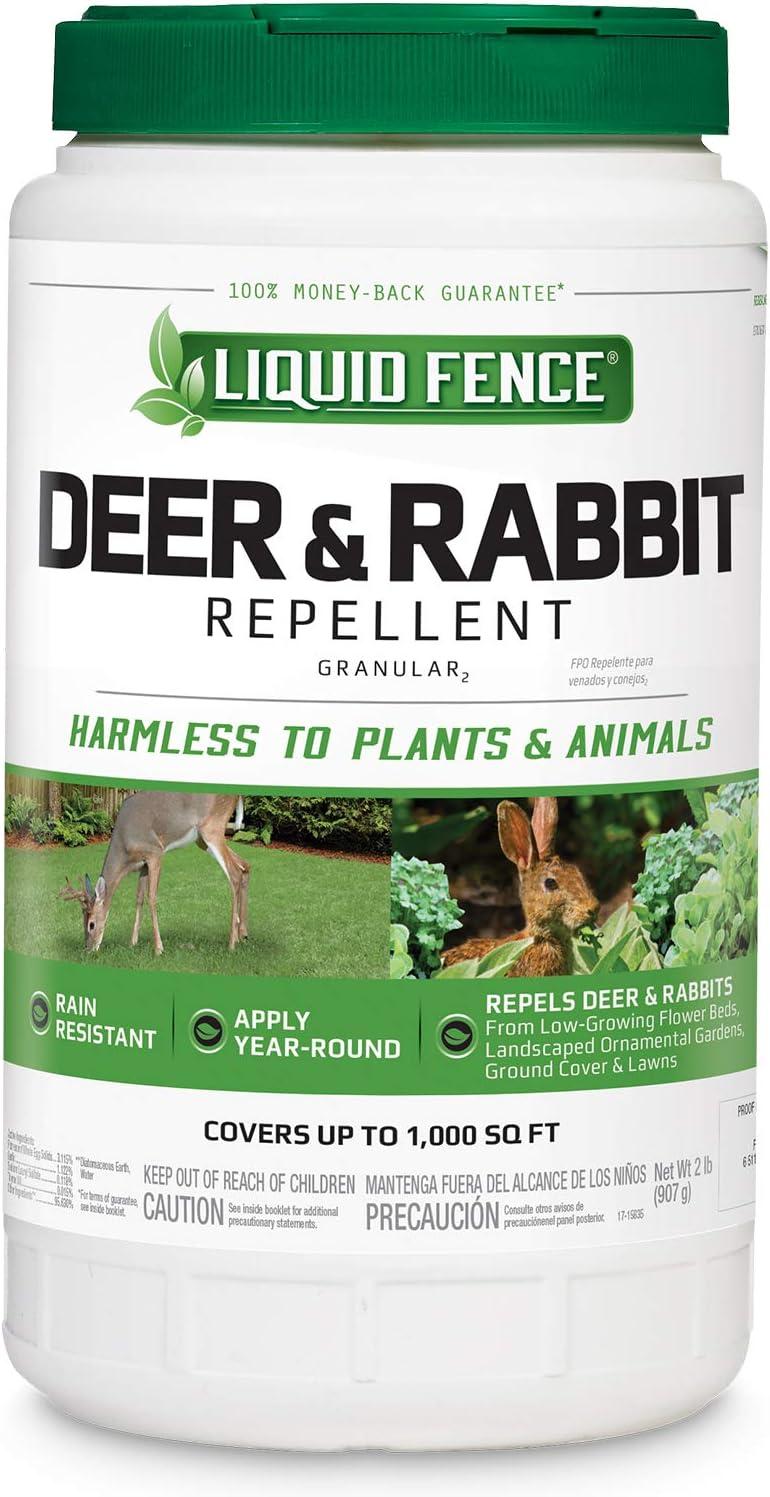Liquid Fence Deer & Rabbit Repellent Granular, 2-Pound