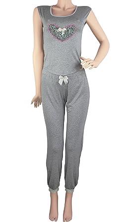 Hipnys Sleepwear PAC3 Pajama Pants Sleeveless PJ Sets for Women Ladies Nightwear