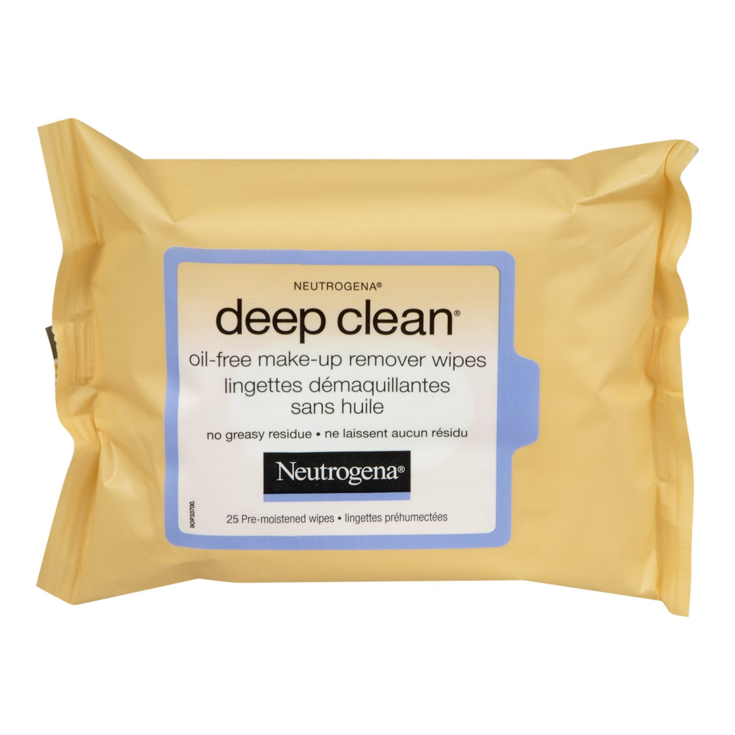 Neutrogena Deep Clean Face Wipes, Oil Free Makeup Wipes, 25 Count