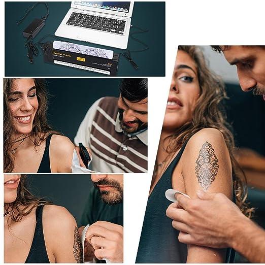 Amazon.com: Profesional de tatuaje de la impresora térmica ...